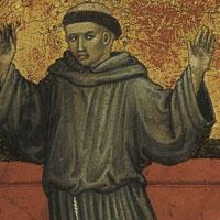 Franciscus toont zijn stigmata