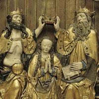 De kroning van Maria met heiligen