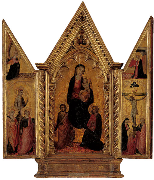 Tabernakel met Maria en heiligen