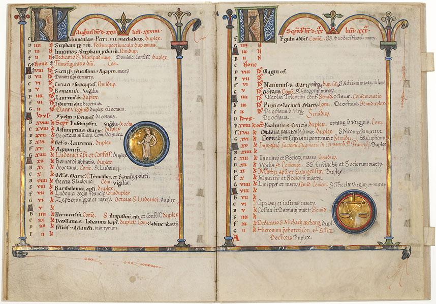 Handschrift: Calendarium