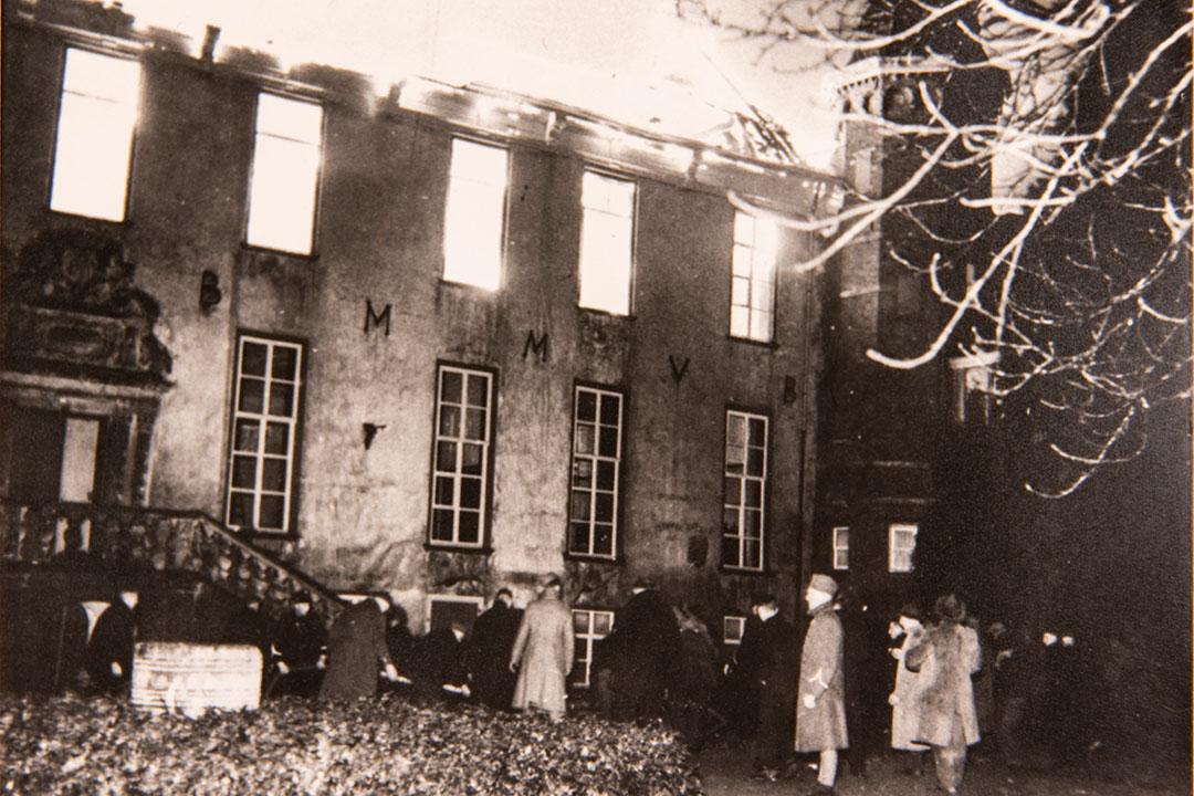 Kasteel Huis Bergh brand 1939