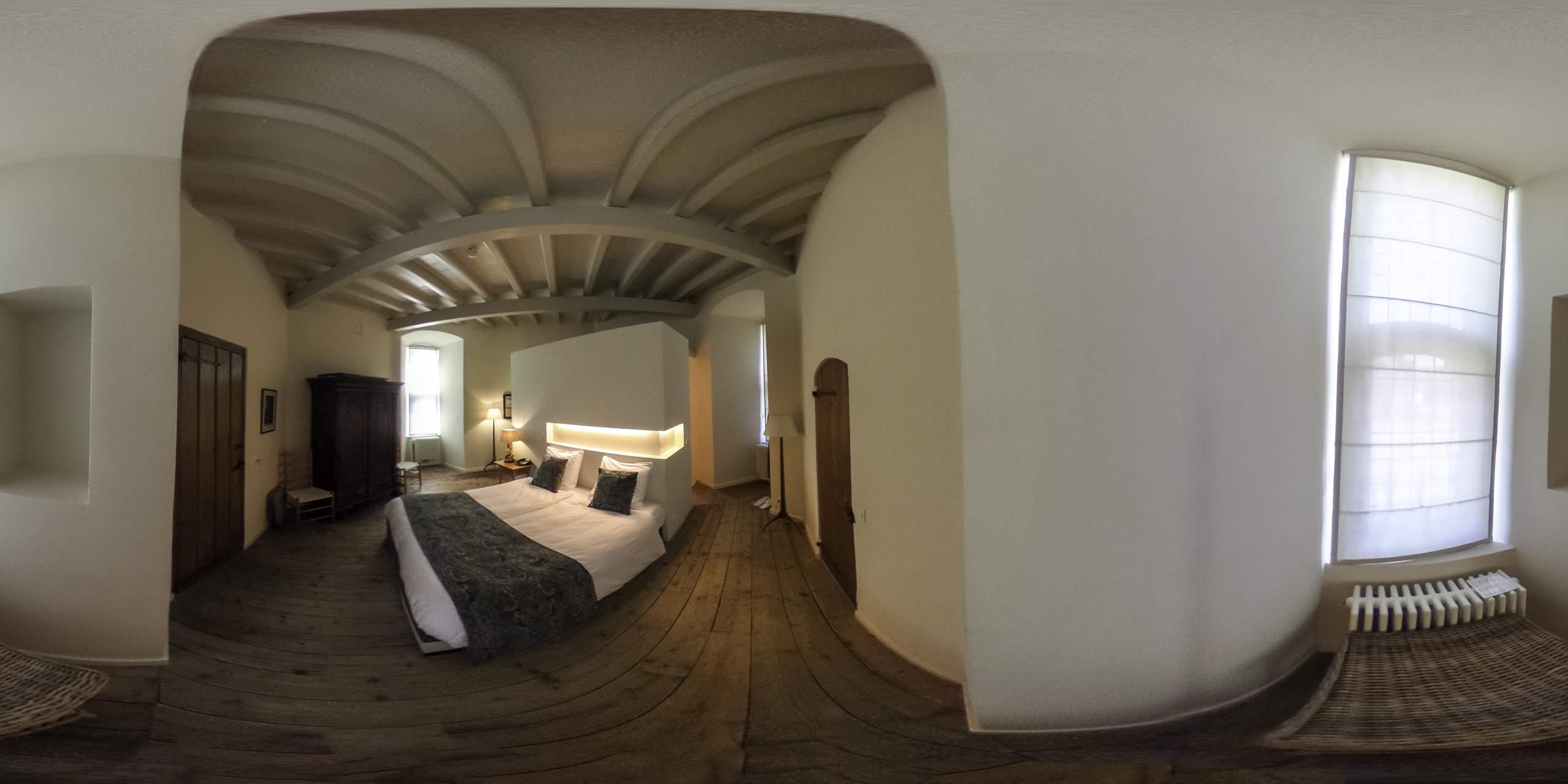 Huis Bergh ronde toren slaapkamer